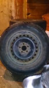 4 winter 215/60R16 tires on steel rims