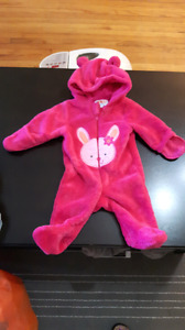 Girls fleece snow suit (can be worn in car seat)