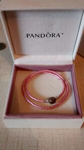 Brand new pink pandora bracelet