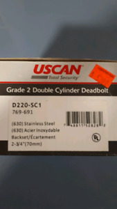 Deadbolt. Grade 2 double cyclinder