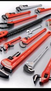 Plumbers plumbers plumbers! Leaky pipes?  Text/call 905-975-4744