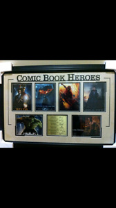 Comic Book Heroes Framed Autographed Movie Posters