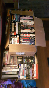15 boxes vcr tapes