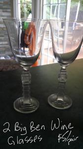 Big Ben wine glasses