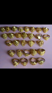 Ladies Beautiful Golden Toned Rings