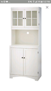 White Kitchen Cabinet - microwave stand