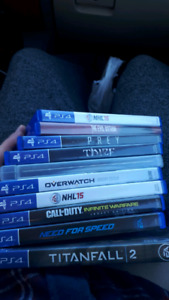 Selling ps4 games let me know if interested!