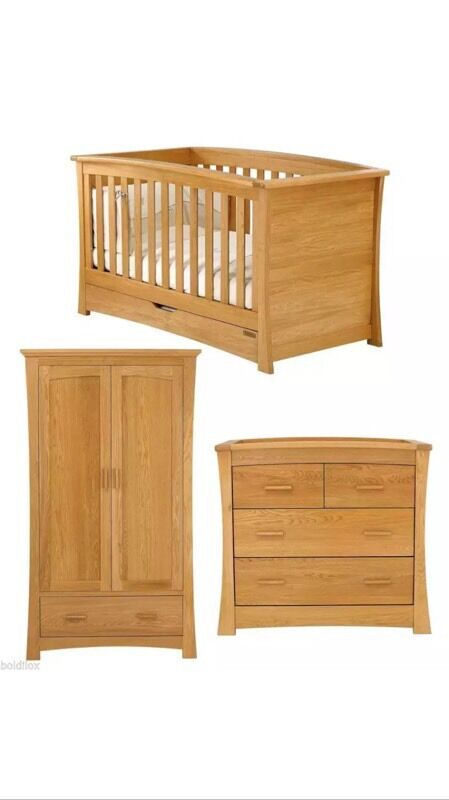 Reduced mamas papas ocean nursery furniture in golden for Reduced furniture