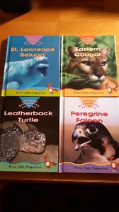 Owl Magazine's Canada's Endangered Animal Books