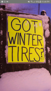 Used snow tires . Summer sale