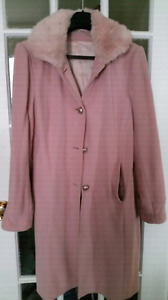 Size 7...Pink Wool Coat