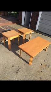 Coffee Table and End Tables - Solid Canadian Built