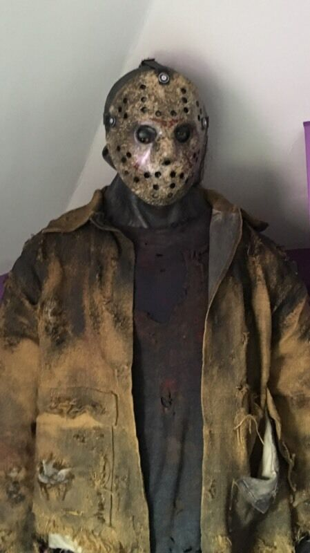 life size jason voorhees mannequin friday the 13th 6ft 6 figure dvd