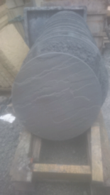 450mm dia. Charcoal grey stepping stones