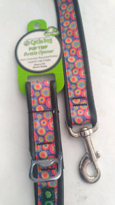 Dog cycle matching leash and collar set