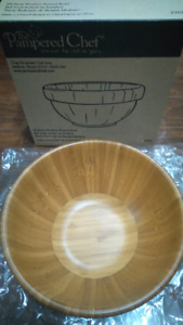 Pampered Chef Medium Bamboo Bowl