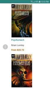 Wanted: the Psychomech book series by Brian Lumley