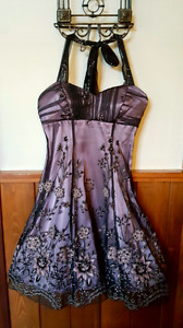 Purple Dress with Pink Flowers- PRICE REDUCED