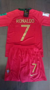 2018 portugal world cup kids kit ( Jersey + shorts)