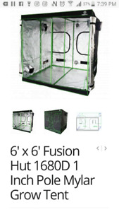 Fusion hut grow tent 6.5x6.5x6.5 feet