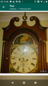Oak longcase antique grandfather clock