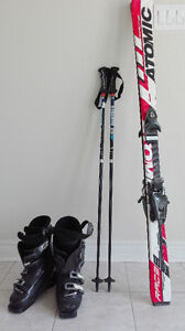 *Ski Boots + Skis + Poles In Great Condition!*