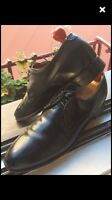 Dack's Imported Calf Black Leather Derbies 10.5