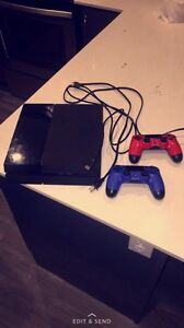 PS4 with 2 controllers.