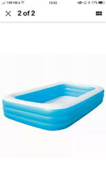 Large family paddling swimmingpool for kids and adults outdoor garden