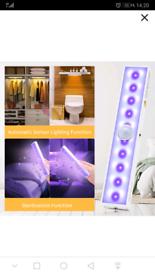 LED Closet Light und UV Light Sanitizer Wand 2-1 Cheflaud Portable USB