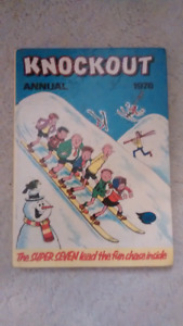 Collectible 1978 Knockout UK Hardcover Comic Book