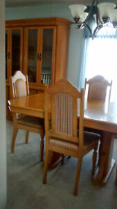 China cabinet, diner table and chairs