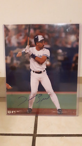 "Toronto blues jays Derek Bell first autographed 8'10"" poster"