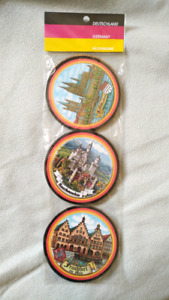 Pack of six (6) Germany souvenir coasters