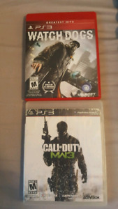 Watchdogs and MW3 for PS3