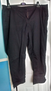 Black full length summer pants