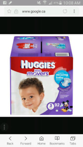 Huggies Little Movers size 3 (92 count)