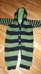 Cozy 6-9 month suit $5