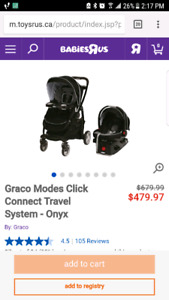 Graco click connect car seat and stroller