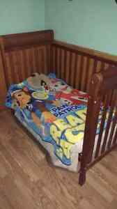 Crib and bedding