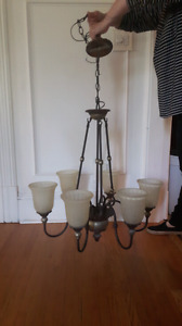 Beautiful Traditional 6 Light Chandelier For Sale