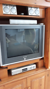 TV, surround sound, and 5 disc DVD changer