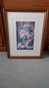 Floral Signed Picture
