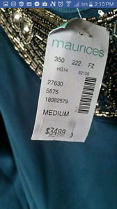 """Brand new """"Maurices"""" long sleep top with sequins  SzM"""