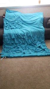 Girls Twin Comforter and Sham