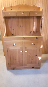 Beautiful Handmade Pine Hutch