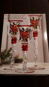 Christmas Candle Holders (set of 3)