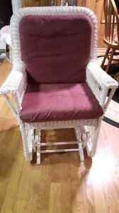 Antique wicker glider chair...mint condition!