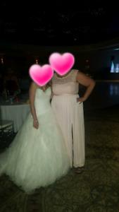 Bridesmaid dress petal pink