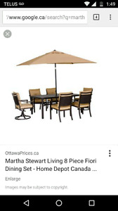 Martha living patio table and chairs